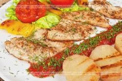 Filet z sandacza w kwaśno ostrym sosie