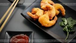 Krewetki w cieście tempura