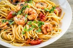 Krewetkowe spaghetti