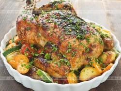 Pieczony kurczak z oregano