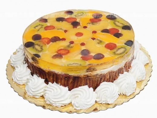 Owocowe ciasto z galaretką