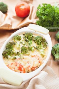 Brokuły w białym sosie