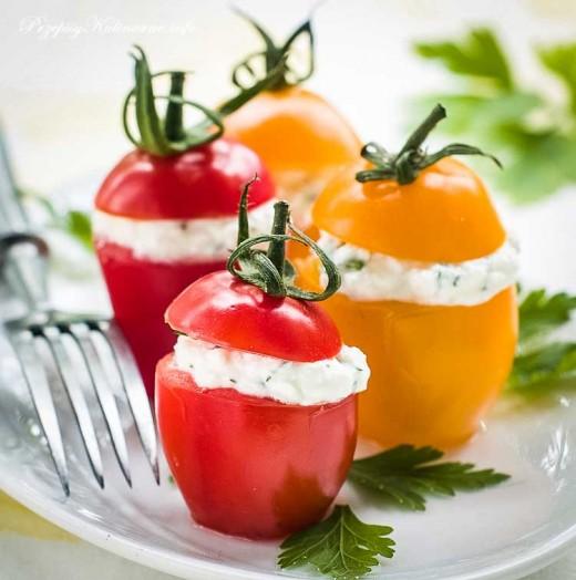 Pomidorki z kozim serkiem