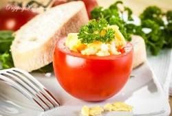 Pomidory nadziewane jajecznicą