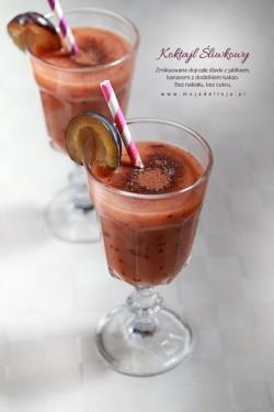 Smoothie – koktajl śliwkowy z kakaem, bananem i jabłkiem – Moja Delicja – Przepisy kulinarne