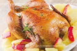 Kurczak nadziewany jabłkami i wątróbką