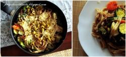 Tagliatelle z warzywami / Tagliatelle with vegetables