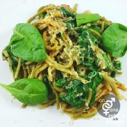 tymiankowe półspaghetti z pieczarkami i szpinakiem – zobacz ich smak