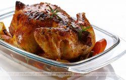 Kurczak pieczony z boczkiem i warzywami