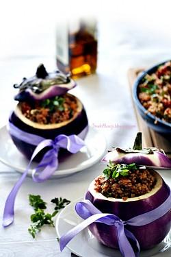 Bakłażany faszerowane kuskusem