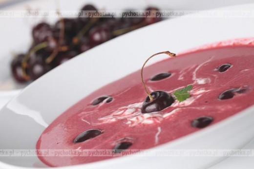 Chłodnik wiśniowo -malinowy