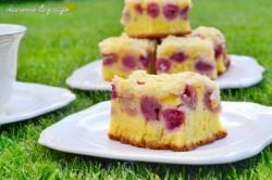 Ciasto czereśniowe z kruszonką