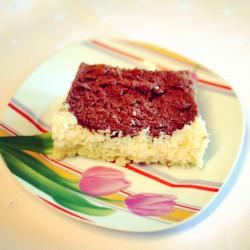 Ciasto kakaowe z masą kokosową