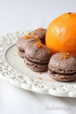 Makaroniki czekoladowe z pomarańczą