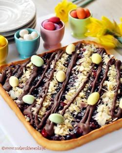 mazurek z wisniami i czekolada