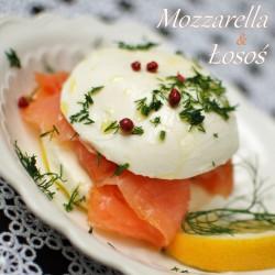 mozzarella z wędzonym łososiem