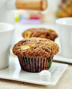 muffiny z rabarbarem