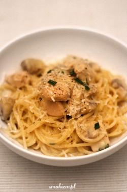 Spaghetti z kurczakiem i rozmarynem