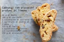 włoskie cantucci cytrynowo – pistacjowe