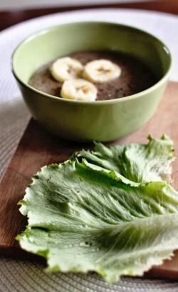 zielony pudding owsiany!