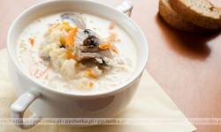 Ziemniaczana zupa krem z pieczarkami
