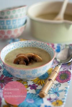 Ziemniaczana zupa krem z rozmarynem.