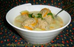 zupa ziemniaczana z klopsikami z indyka…