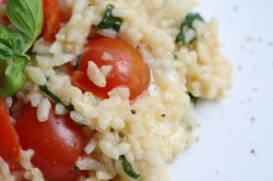 Cherry tomato, mozzarella and basil risotto