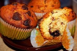 Muffiny z nutellą i kawałkami czekolady!