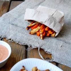 Frytki z selera i marchewki