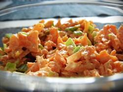 Surówka obiadowa z pora i marchewki