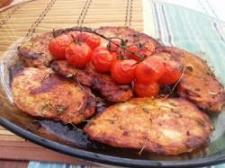 Kotlety pieczone z pomidorami i tymiankiem