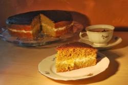 Tort pomarańczowo – dyniowy