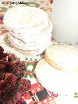 Śnieżne waniliowe kruche ciasteczka na Mikołajki i Pajacyk