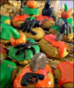 Dyniowe ciasteczka na halloween.