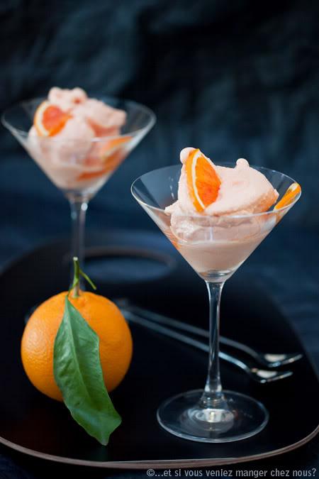 Pomarańczowy sorbet z orientalną nutą