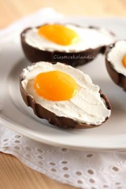 jajka w czekoladowych skorupkach