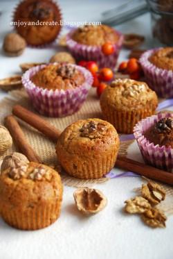 Muffiny marchewkowo-orzechowe