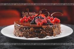 Tort z wiśniami i kremem cytrynowym