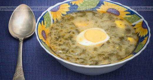 Zupa szczawiowa z jajkiem