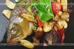 Ryba faszerowana kalmarami