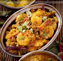 Krewetki w sosie curry