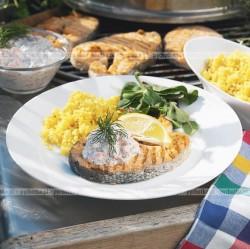 Ryba smażona z cytryną