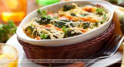 Brokuły i kalafior zapiekane z sosem śmietanowym