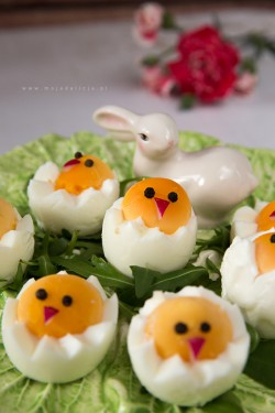 Wielkanocne kurczaki z jajek Moja Delicja – Przepisy kulinarne
