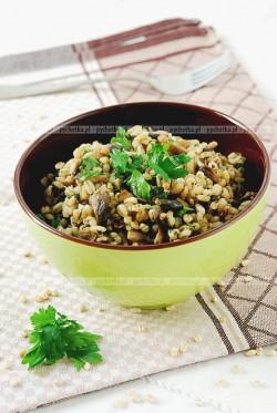 Risotto z grzybami i serem