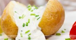 Pieczone ziemniaki z majonezem