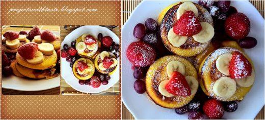 Mini naleśniki (zdrowsza wersja) / Mini pancakes (healthy version)